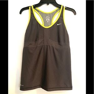 Nike workout tank with built in sports bra